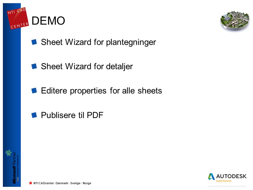 DEMO Sheet Wizard for plantegninger Sheet Wizard for detaljer