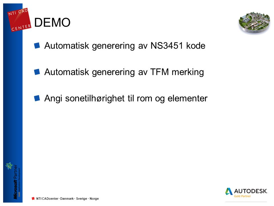 DEMO Automatisk generering av NS3451 kode