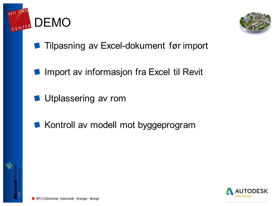 DEMO Tilpasning av Excel-dokument før import