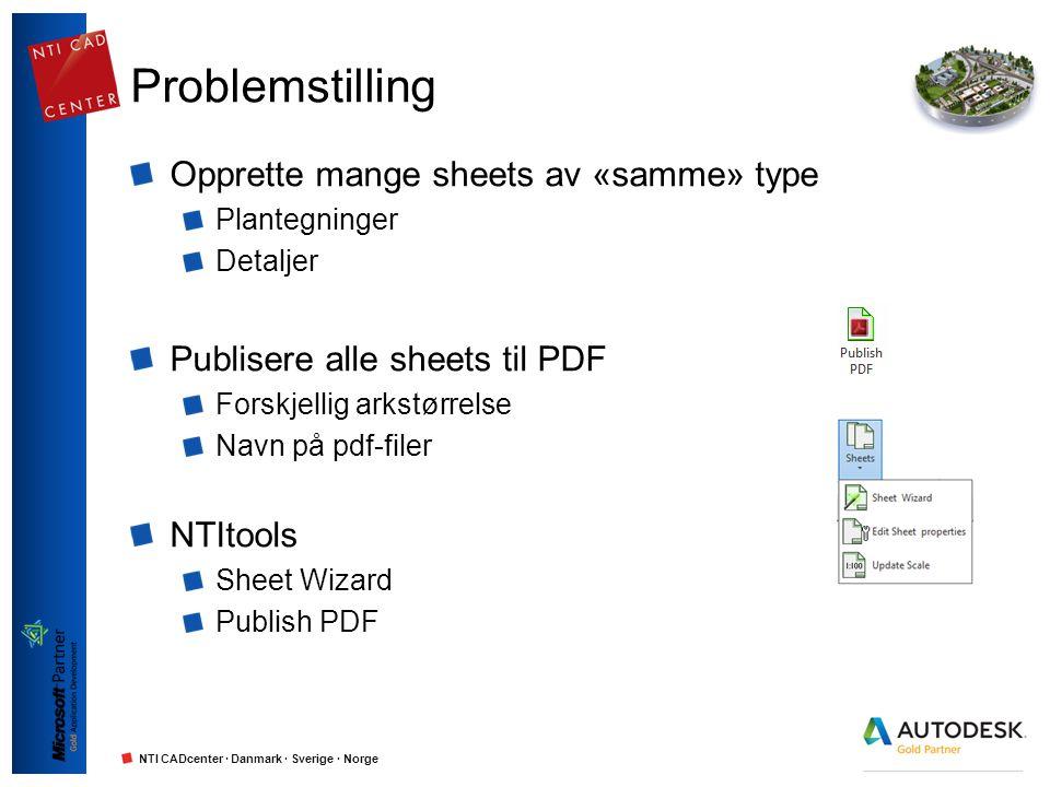 Problemstilling Opprette mange sheets av «samme» type
