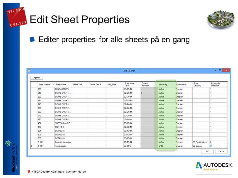 Edit Sheet Properties Editer properties for alle sheets på en gang
