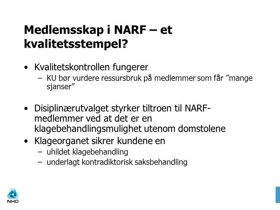 Medlemsskap i NARF – et kvalitetsstempel