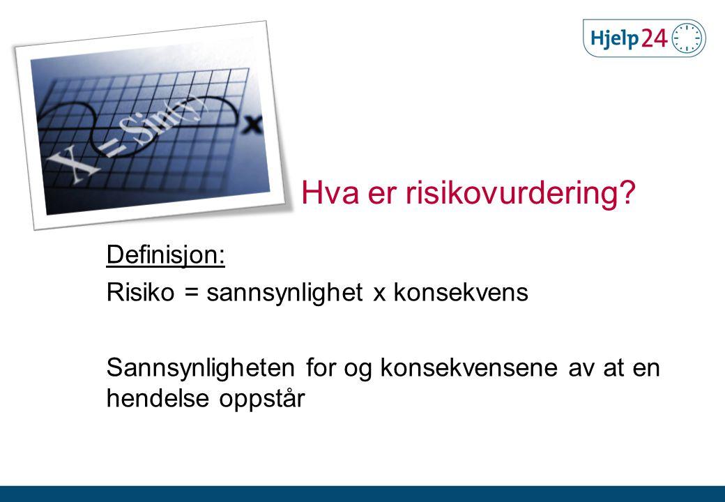 Hva er risikovurdering