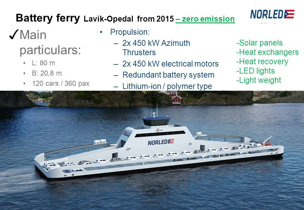 Battery ferry Lavik-Opedal from 2015 – zero emission