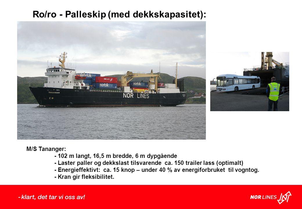 Ro/ro - Palleskip (med dekkskapasitet):