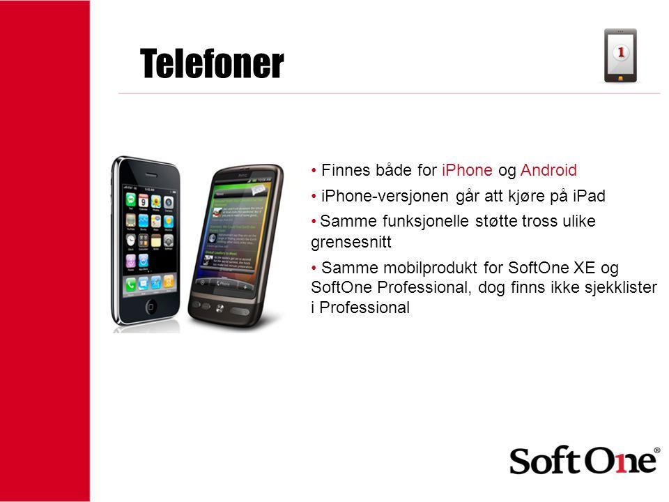 Telefoner Finnes både for iPhone og Android