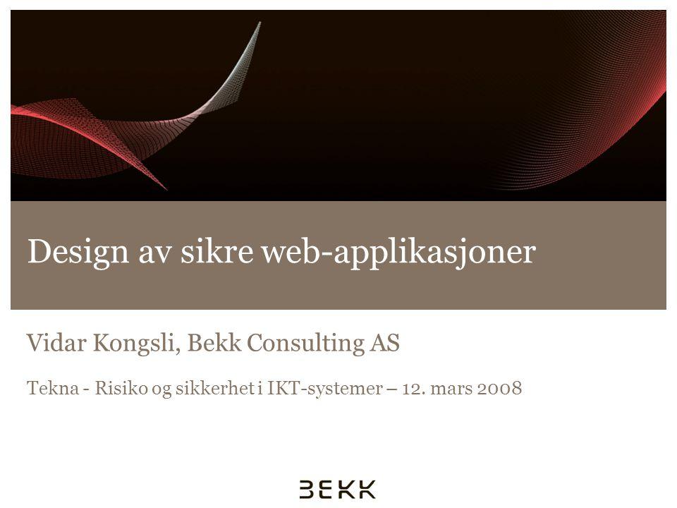 Design av sikre web-applikasjoner