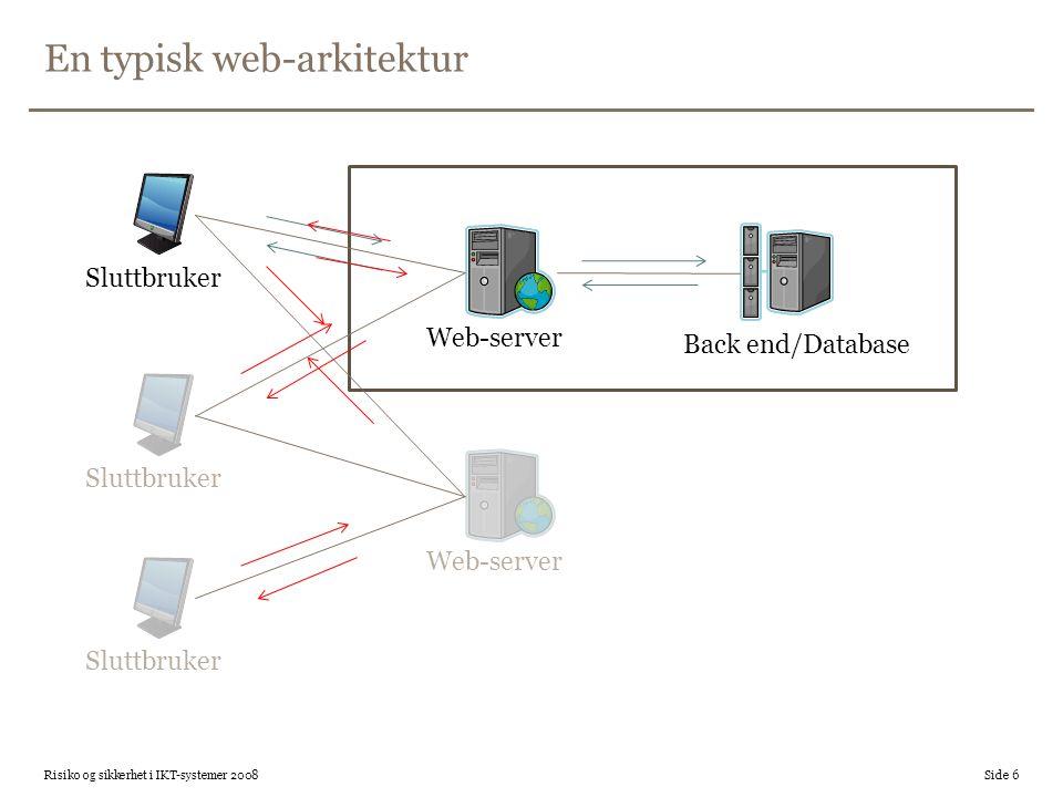 En typisk web-arkitektur