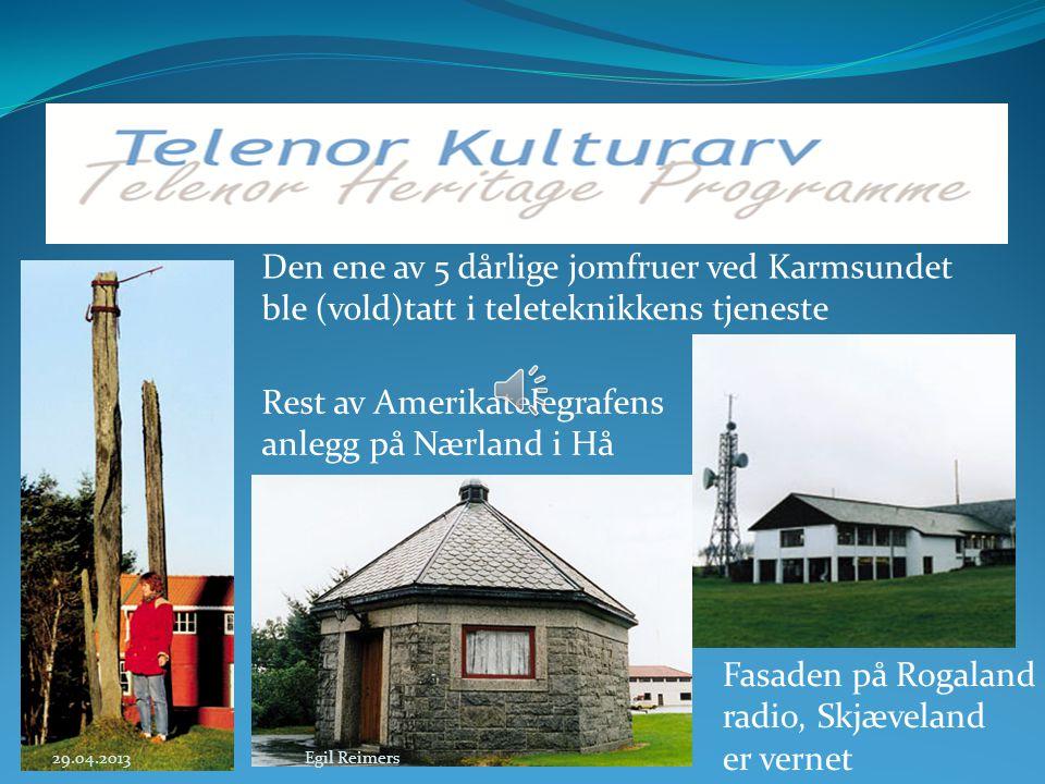 Rest av Amerikatelegrafens anlegg på Nærland i Hå