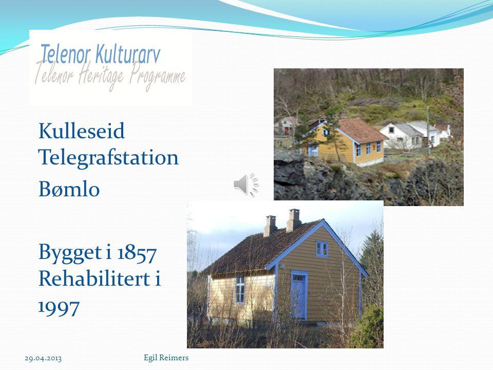 Kulleseid Telegrafstation Bømlo Bygget i 1857 Rehabilitert i 1997