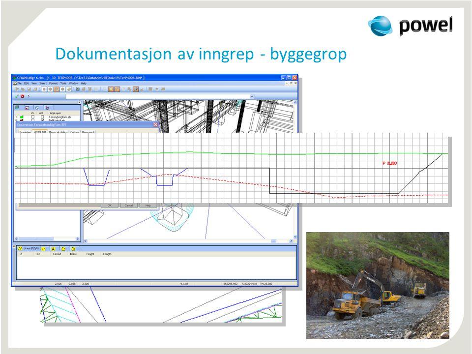 Dokumentasjon av inngrep - byggegrop