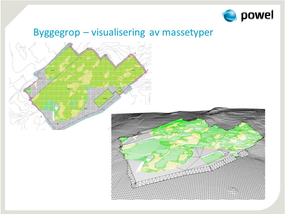 Byggegrop – visualisering av massetyper