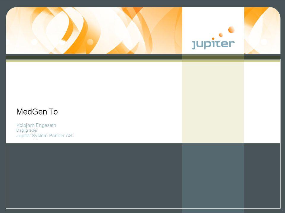 Kolbjørn Engeseth Daglig leder Jupiter System Partner AS