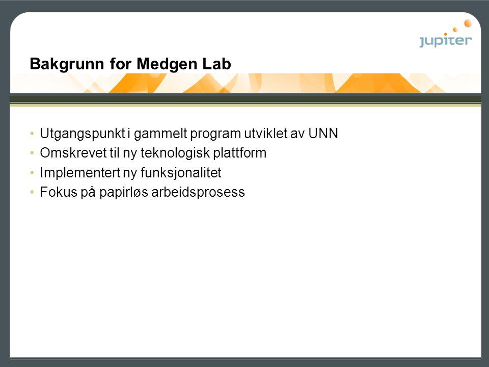 Bakgrunn for Medgen Lab