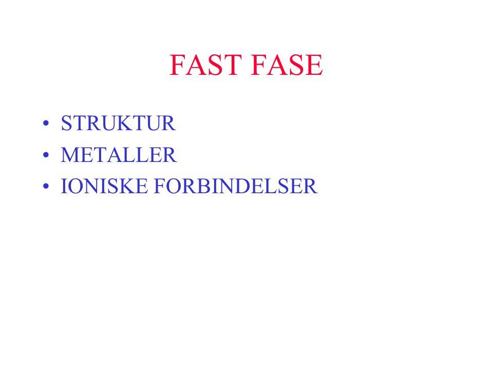 FAST FASE STRUKTUR METALLER IONISKE FORBINDELSER