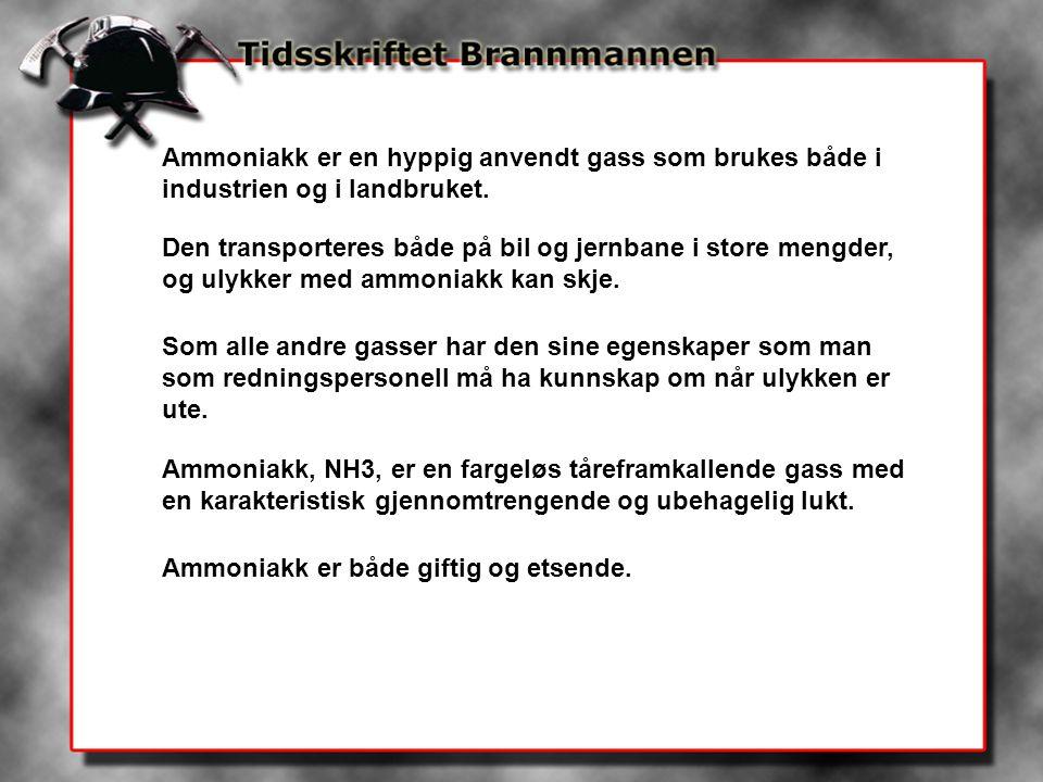 Ammoniakk er en hyppig anvendt gass som brukes både i industrien og i landbruket.