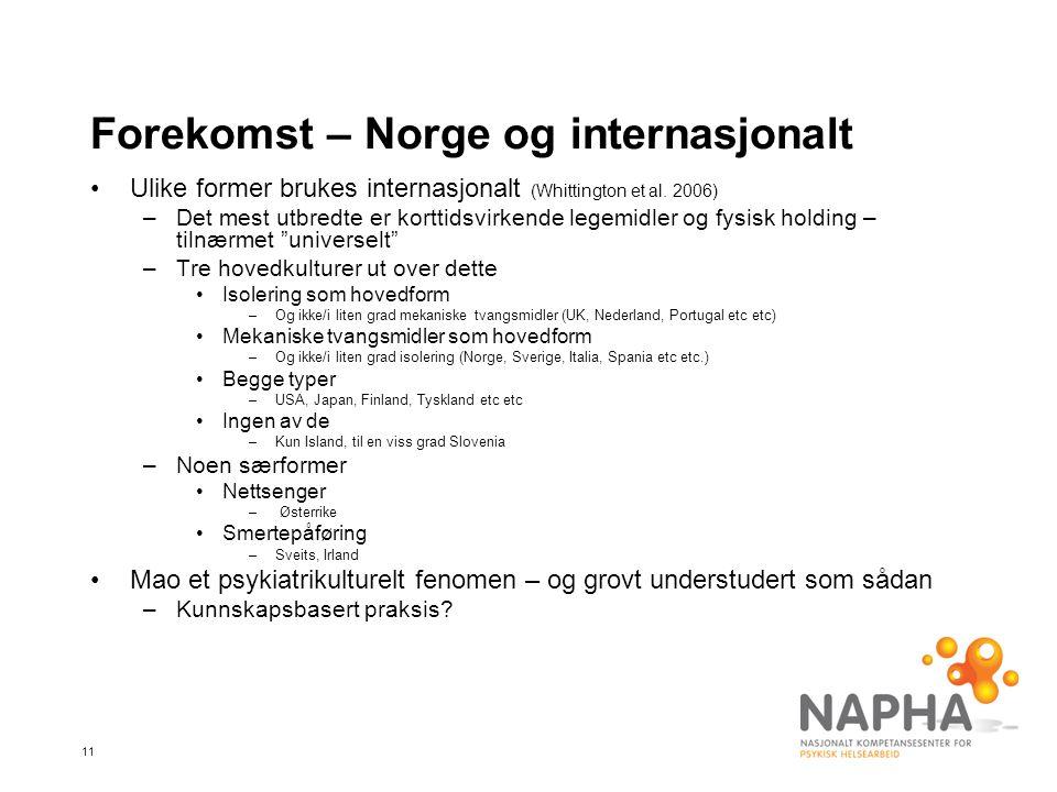 Forekomst – Norge og internasjonalt