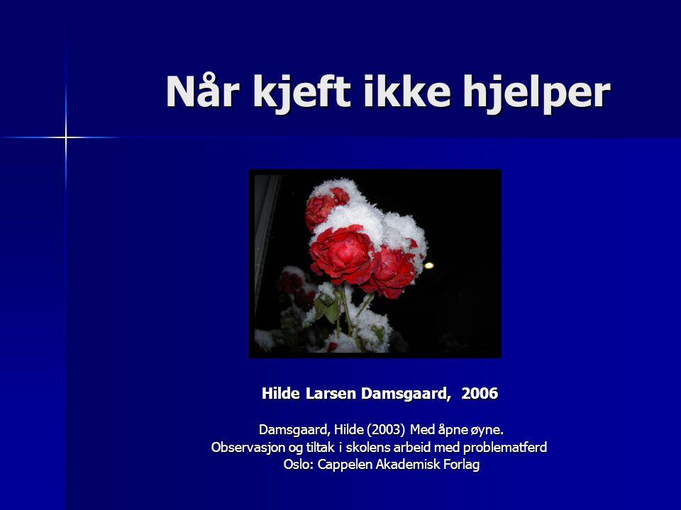 Når kjeft ikke hjelper Hilde Larsen Damsgaard, 2006
