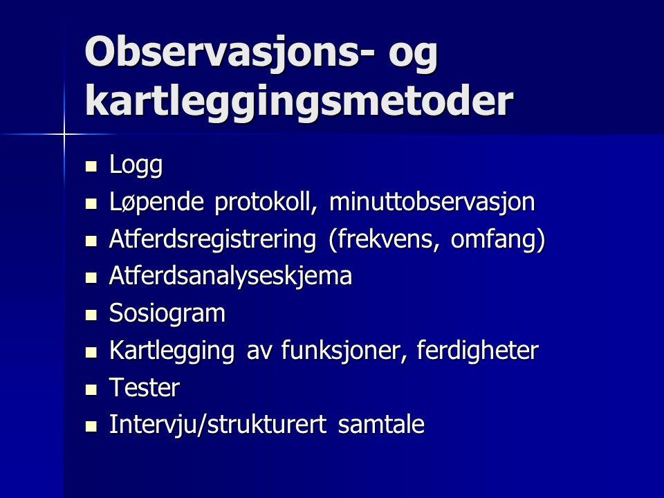 Observasjons- og kartleggingsmetoder