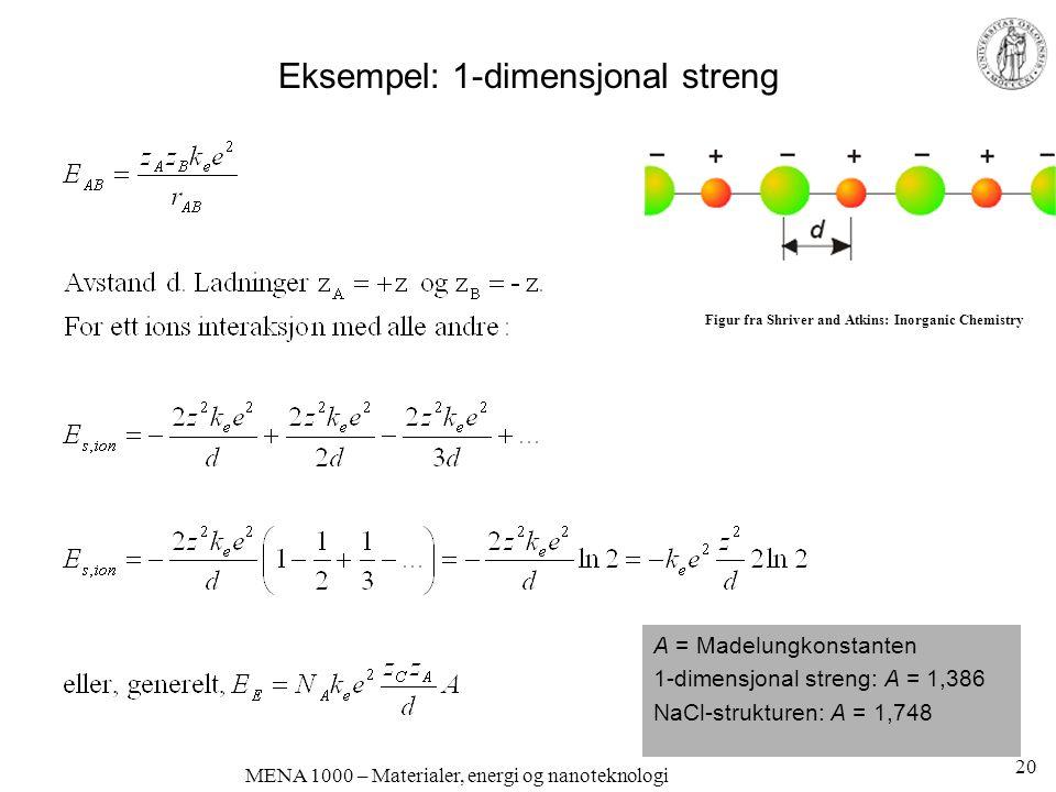 Eksempel: 1-dimensjonal streng