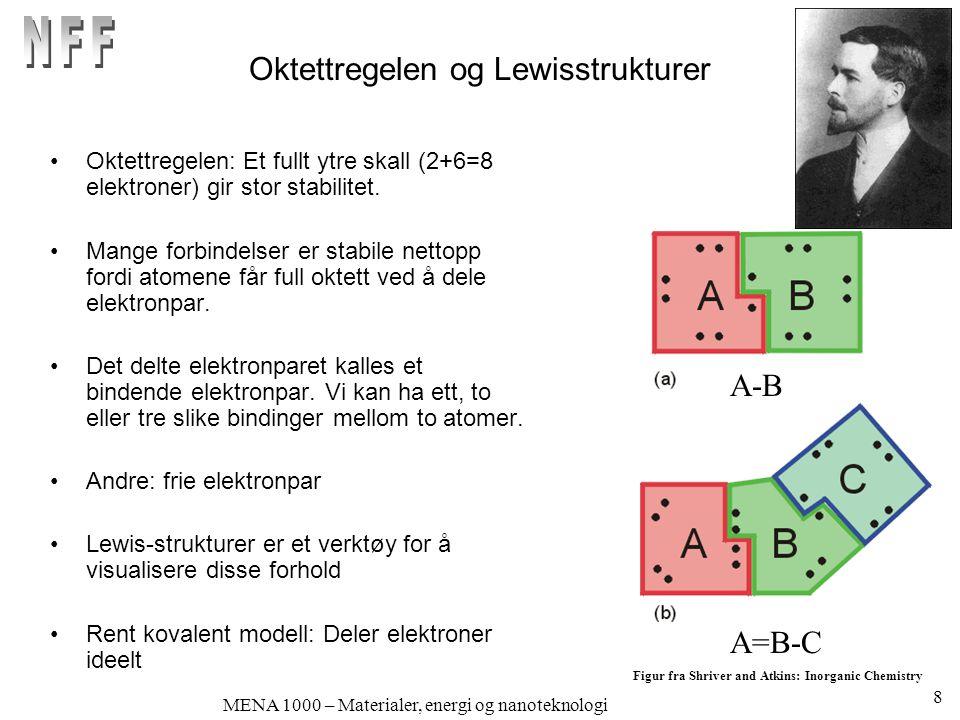Oktettregelen og Lewisstrukturer