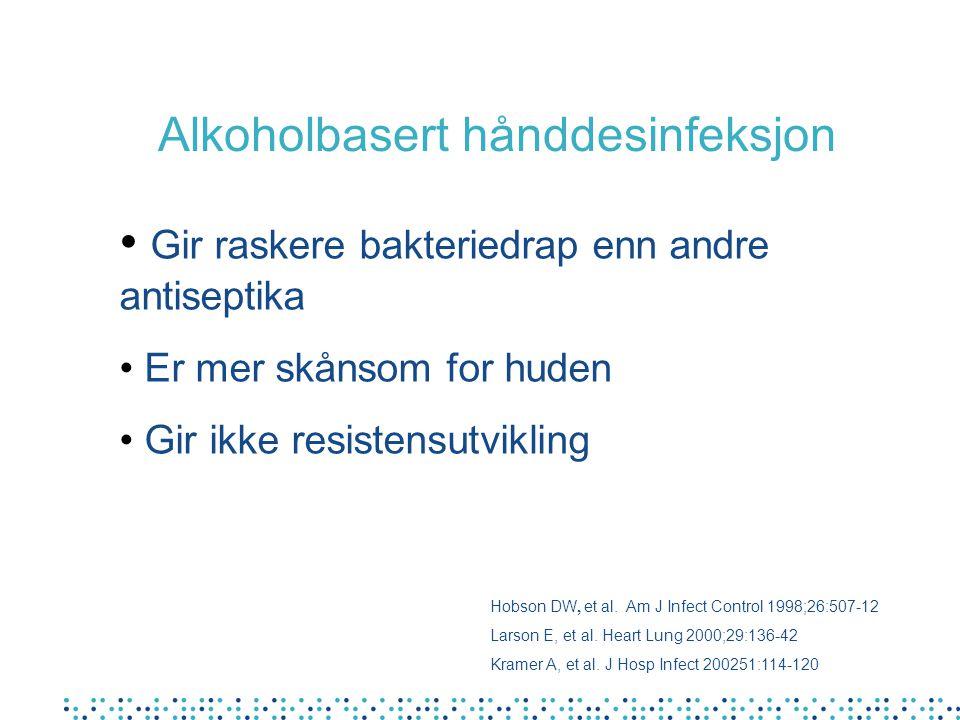Alkoholbasert hånddesinfeksjon