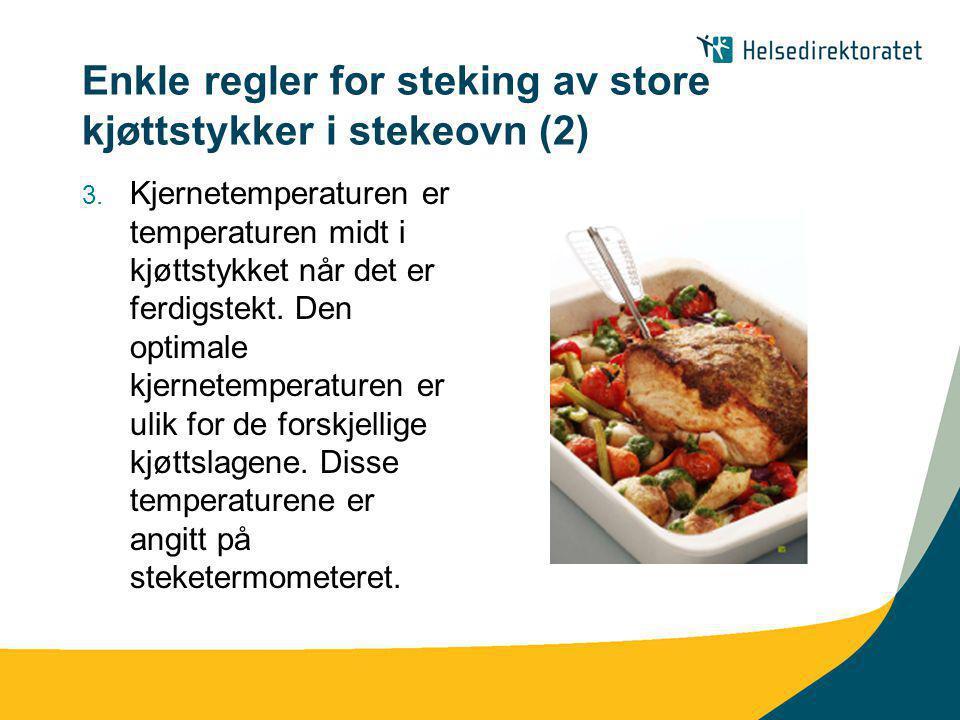 Enkle regler for steking av store kjøttstykker i stekeovn (2)
