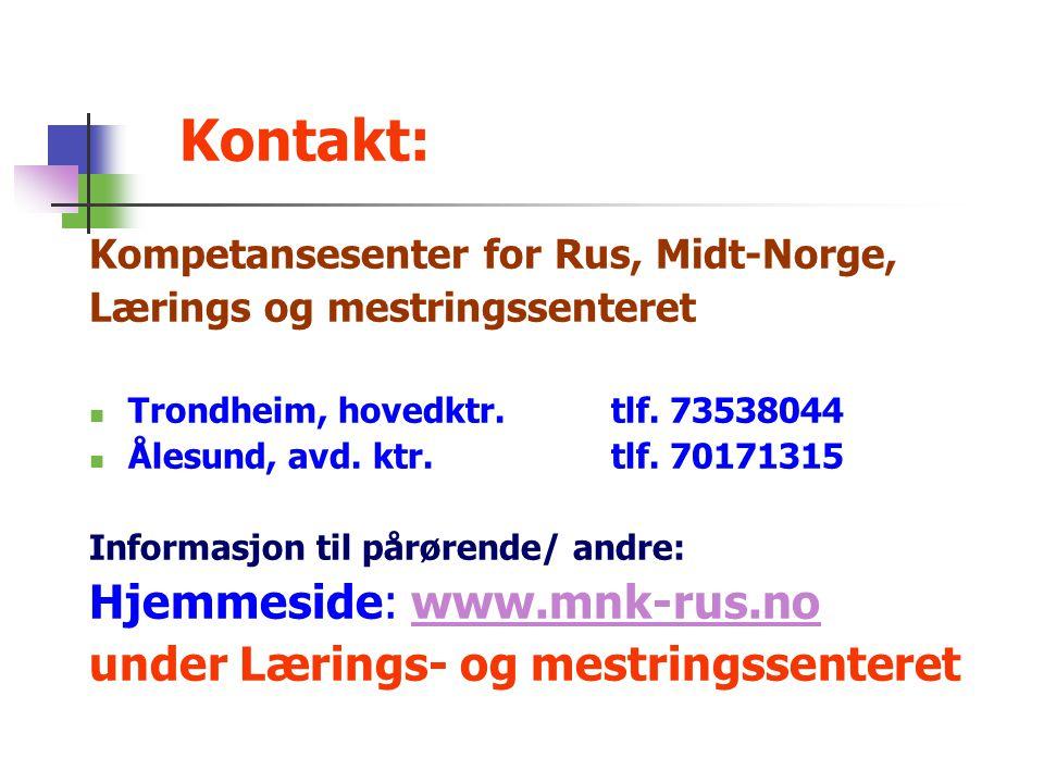 Kontakt: Hjemmeside: www.mnk-rus.no