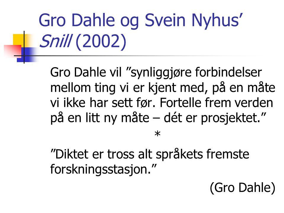 Gro Dahle og Svein Nyhus' Snill (2002)