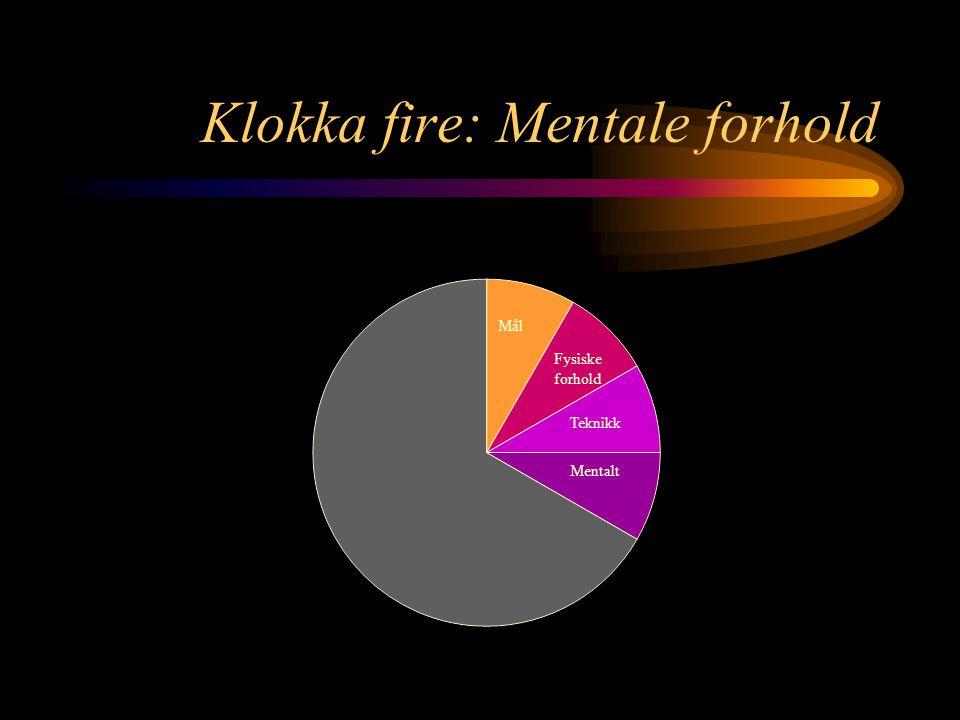 Klokka fire: Mentale forhold