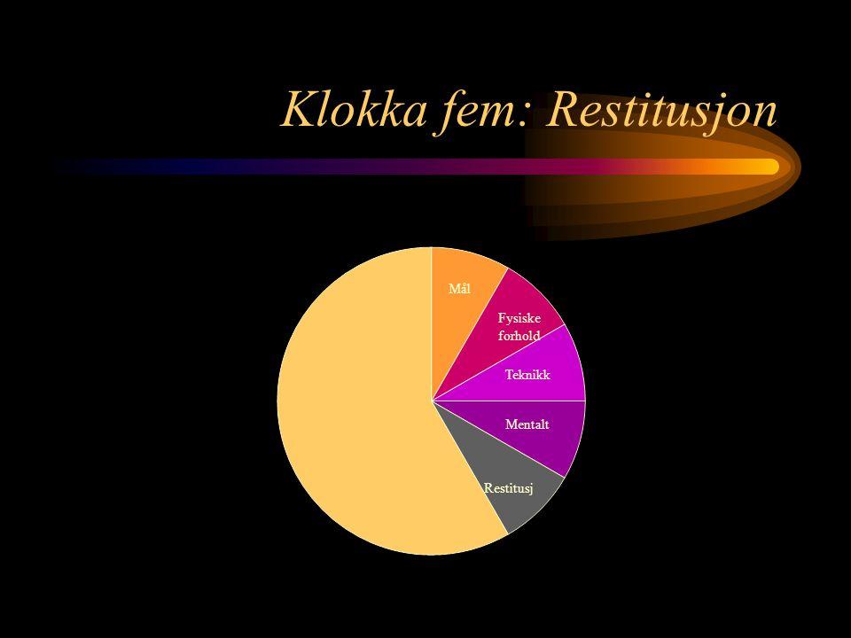 Klokka fem: Restitusjon