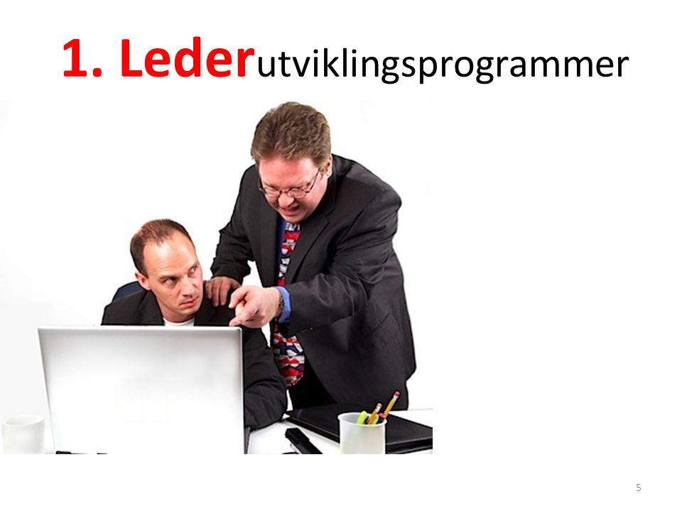1. Lederutviklingsprogrammer