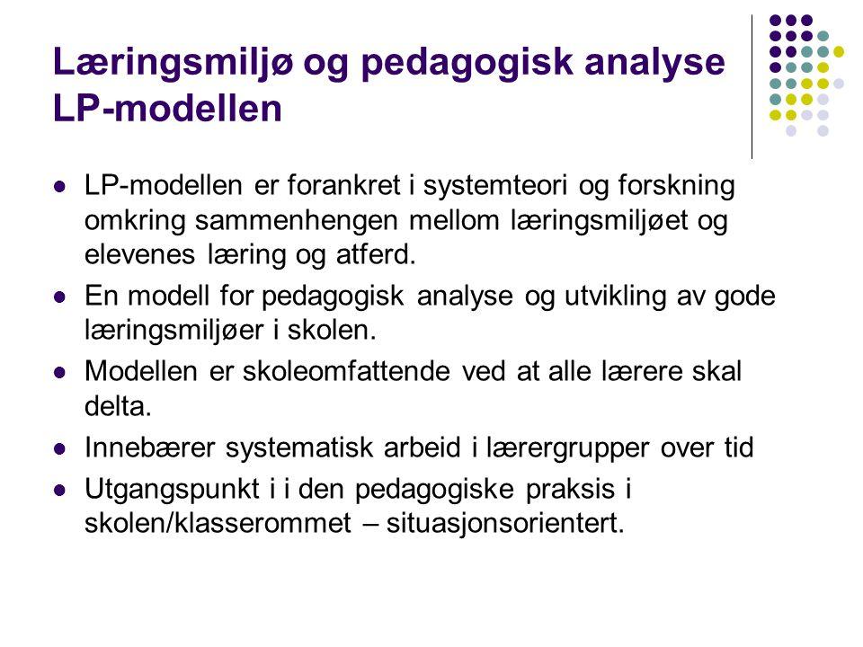 Læringsmiljø og pedagogisk analyse LP-modellen