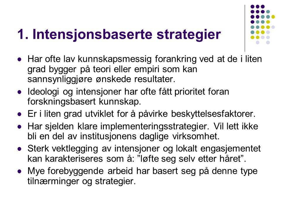 1. Intensjonsbaserte strategier