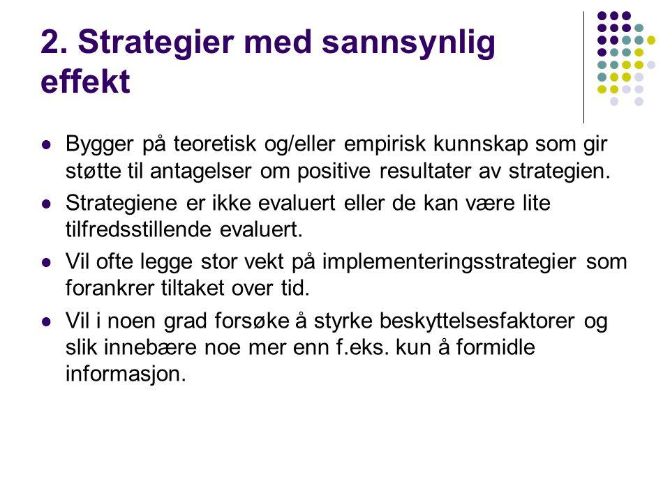 2. Strategier med sannsynlig effekt
