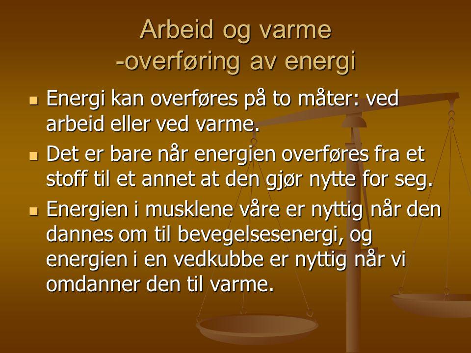 Arbeid og varme -overføring av energi