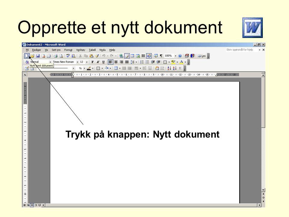 Opprette et nytt dokument