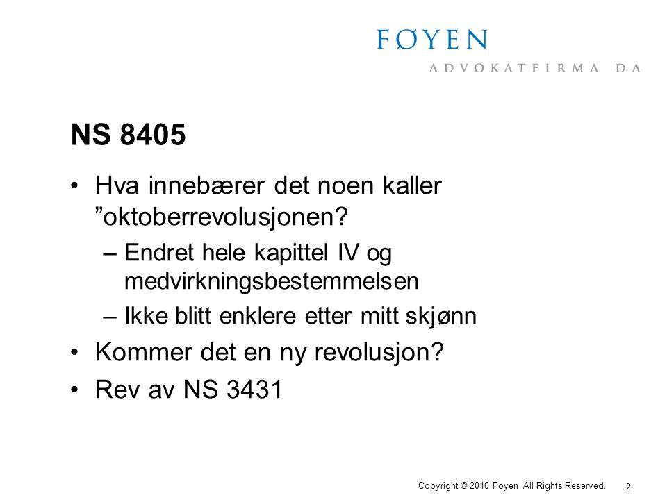 NS 8405 Hva innebærer det noen kaller oktoberrevolusjonen