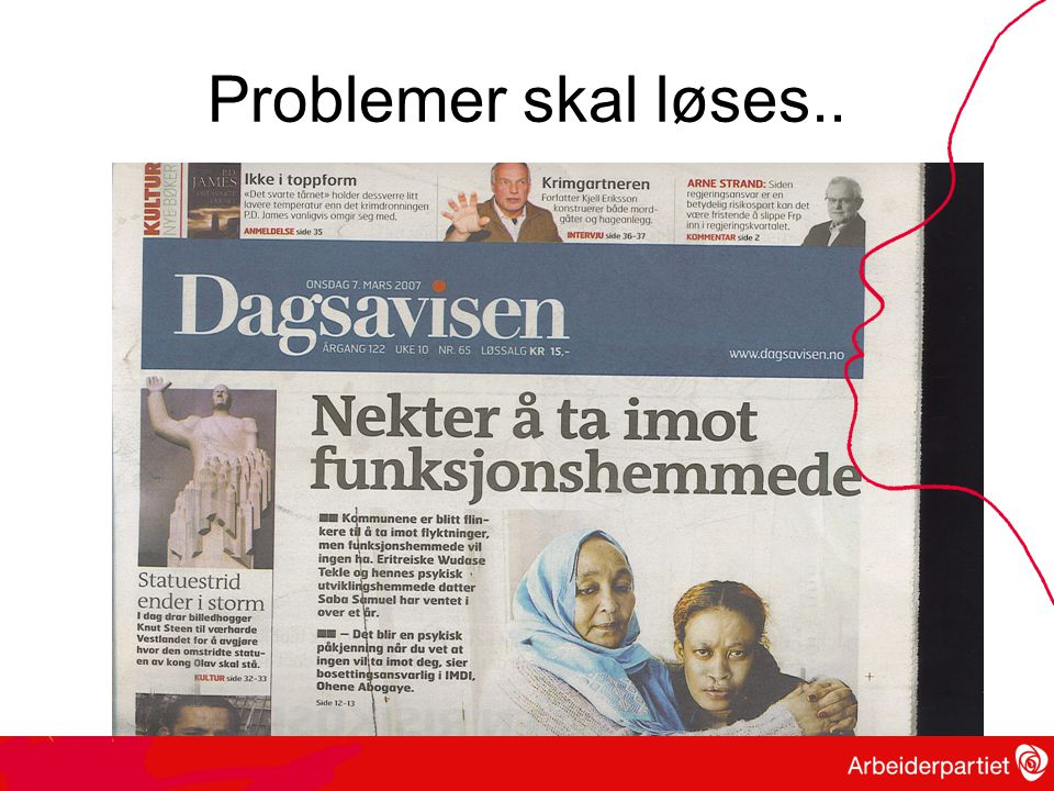 Problemer skal løses..