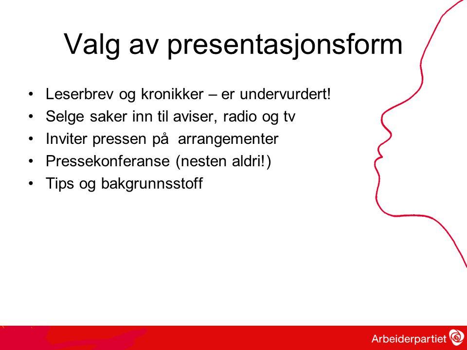 Valg av presentasjonsform