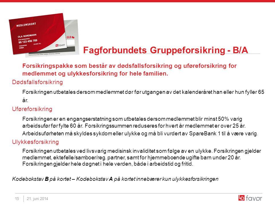 Fagforbundets Gruppeforsikring - B/A