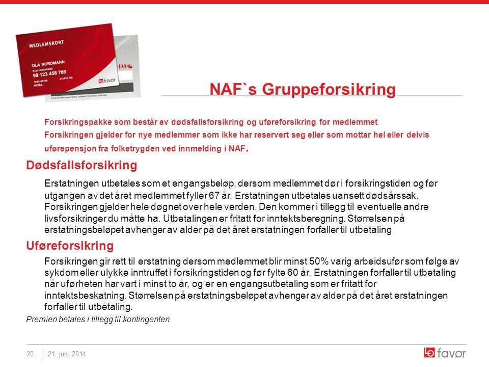 NAF`s Gruppeforsikring