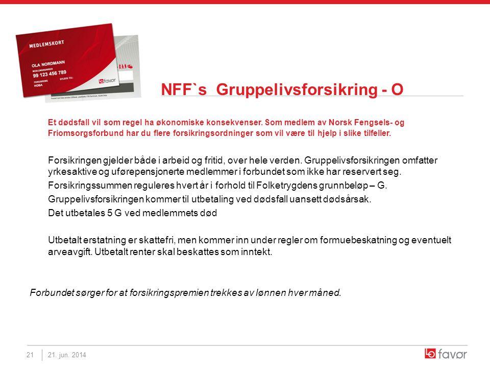 NFF`s Gruppelivsforsikring - O