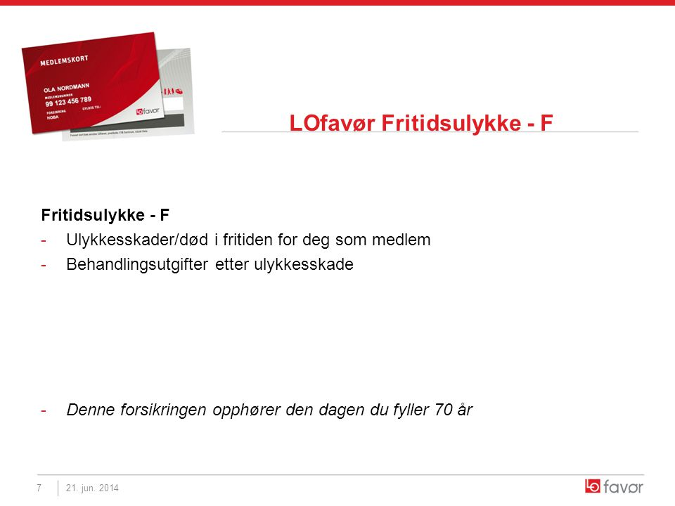 LOfavør Fritidsulykke - F