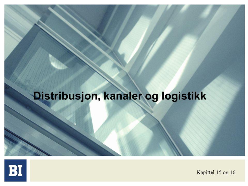 Distribusjon, kanaler og logistikk