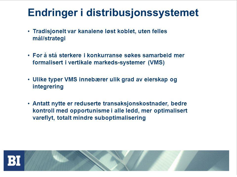Endringer i distribusjonssystemet