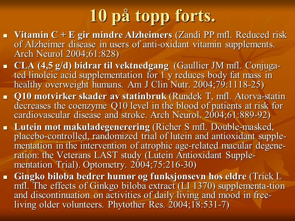 10 på topp forts.