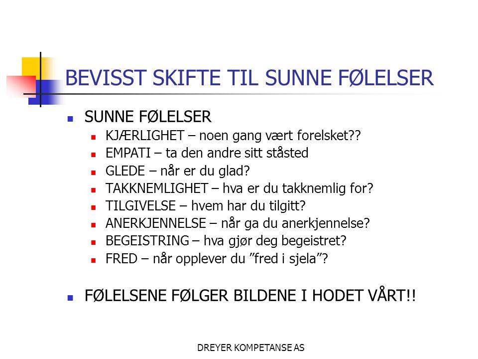 BEVISST SKIFTE TIL SUNNE FØLELSER