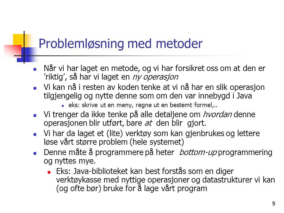 Problemløsning med metoder