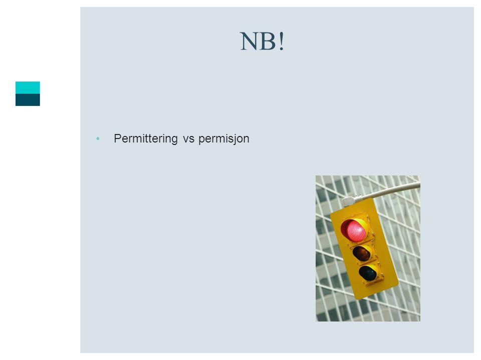 NB! Permittering vs permisjon